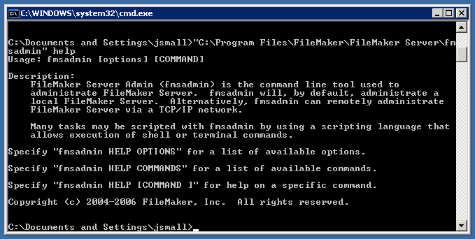 Simplify fmsadmin from Windows cmd prompt | Soliant Consulting