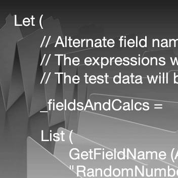 Code from the Test Data Generator