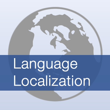 Language localization badge