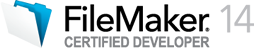 FileMaker 14 Certified Developer logo