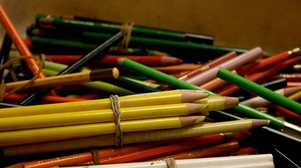 Pile of color pencils