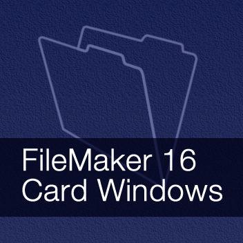 FileMaker 16 Card Windows