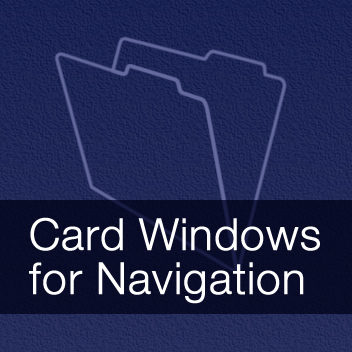 Card Windows for Navigation