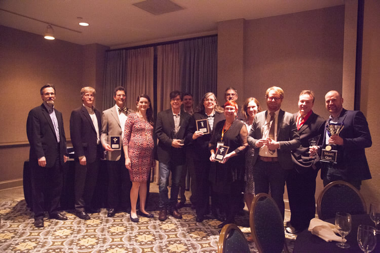 Soliant executive team, anniversary award and Rising Sun award recipients