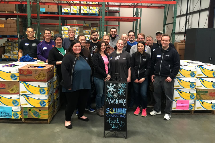 Soliant volunteers at the Georgia Mountain Food Bank
