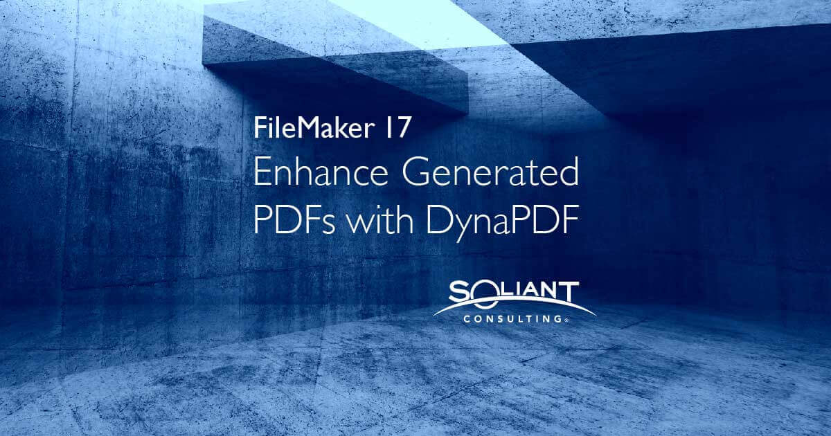 How to Extend FileMaker PDF functionality with DynaPDF