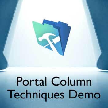 Portal Column Techniques