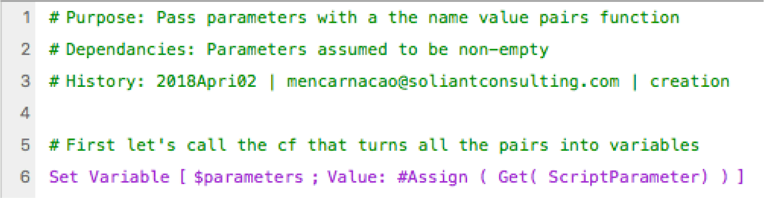 "Call the ""#Assign()"" custom function with the Get(ScriptParameter) fuction"