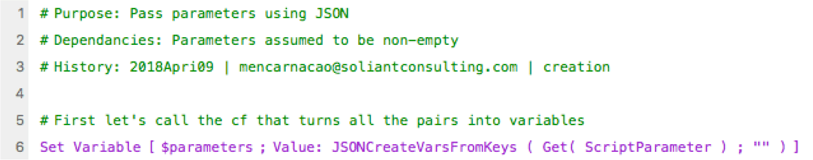 Use a custom function to pass parameter using JSON