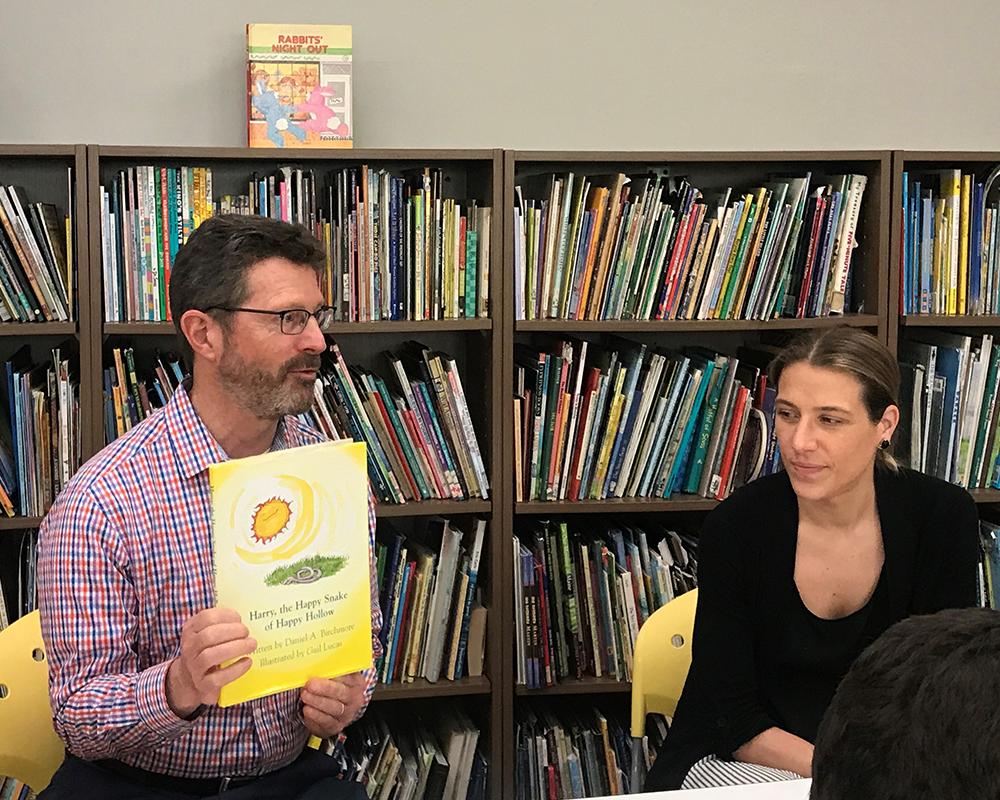 Craig Stabler & Kristen Kelly reading at Devereux's Reading Week 2019