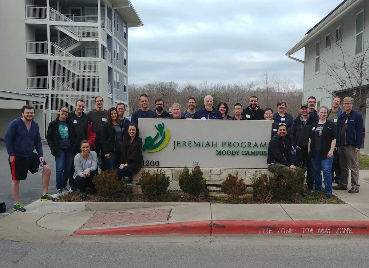 Soliant employees volunterring at the Jeremiah Program
