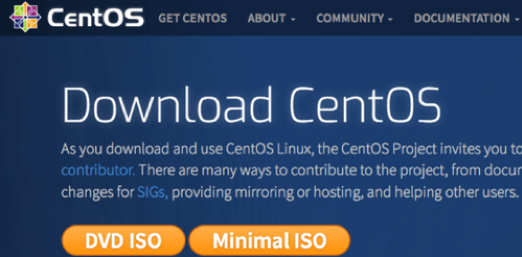 Screensho of the CentOS download