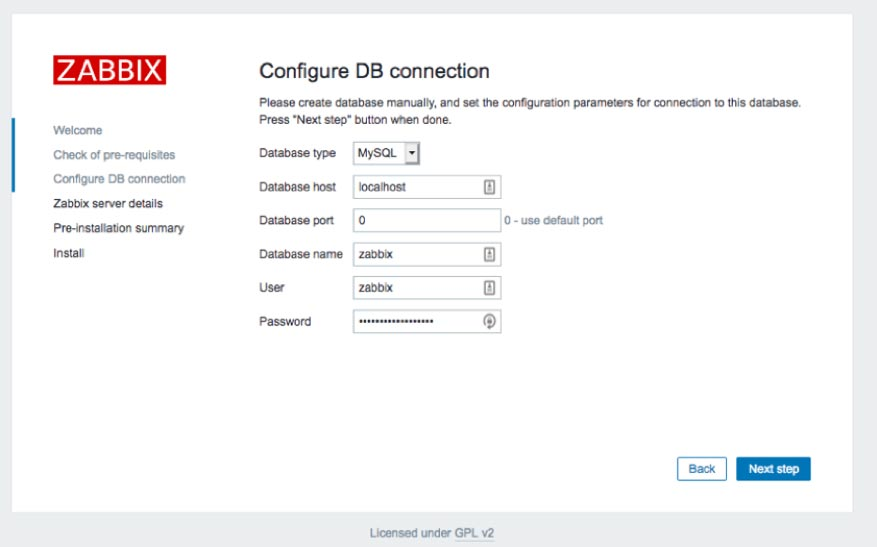 "Screenshot of the ""Configure DB Connection"""
