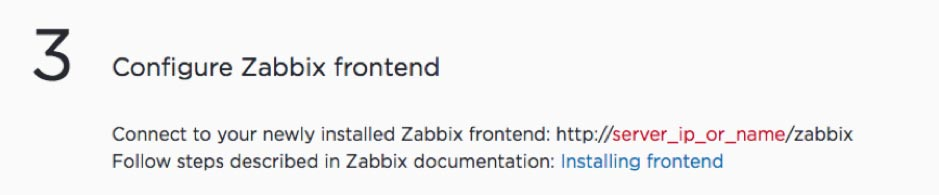 Screenshot of opening Zabbix frontend in the browser