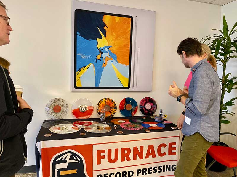 Furnace Record Pressing table