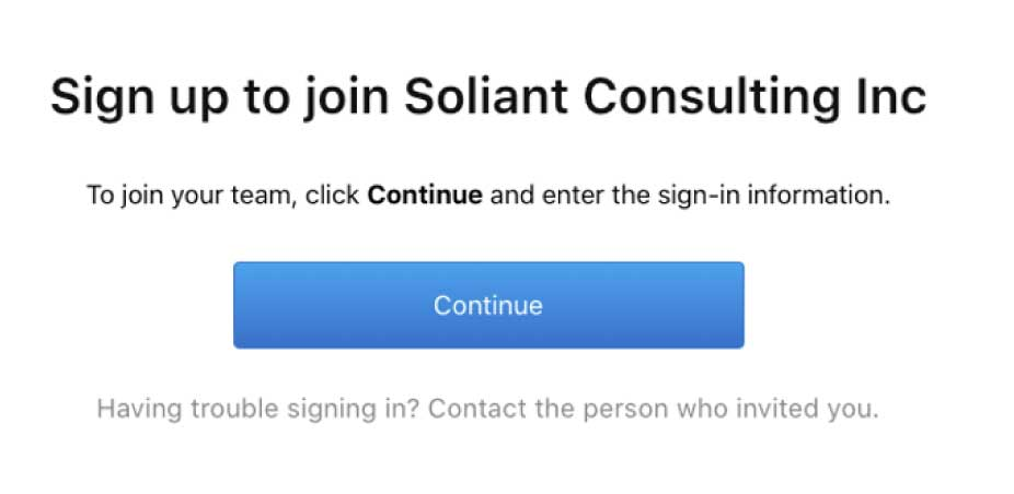 Figure 10b: Sign up dialog to join your team
