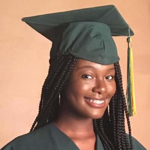 Jaliyah Francois, Fall 2020 - Spring 2021 Soliant Sunrise Scholarship Recipient