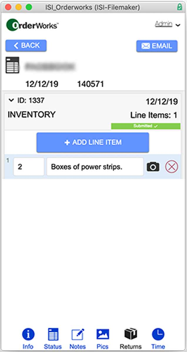 Figure 12 - Second photo of the Storage tracking system on mobile