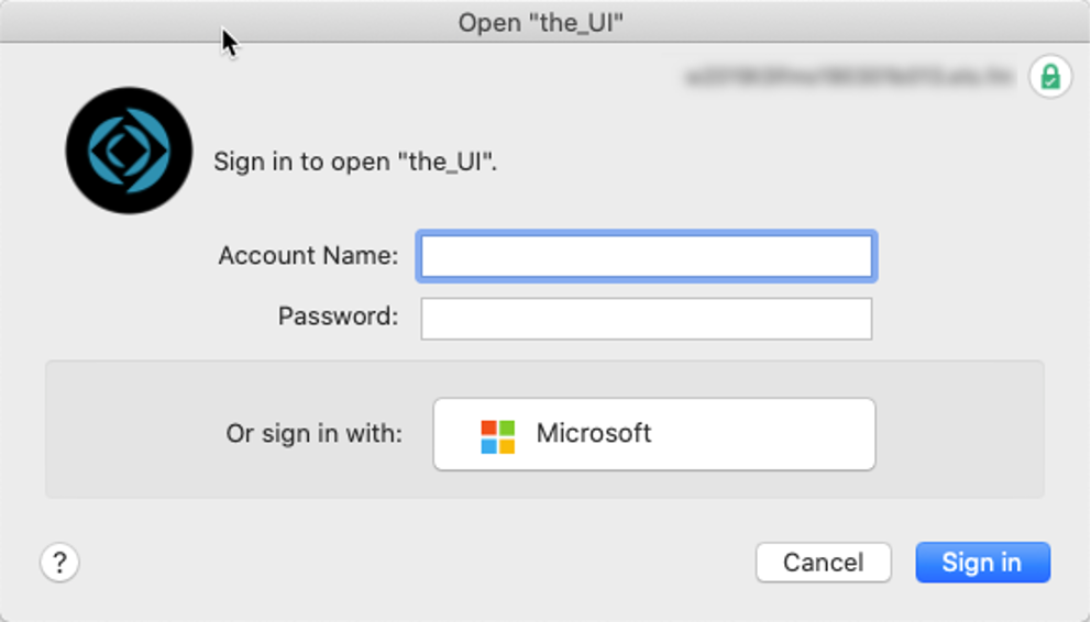 FileMaker Pro login dialog -- JJ is typing