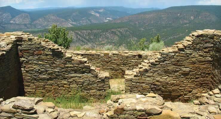 Photo of old walls on Colorado hillside