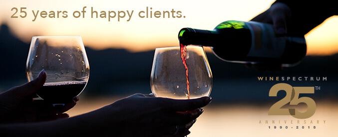 25 years of happy clients - Wine Spectrum 25h Anniversary 1990 - 2015