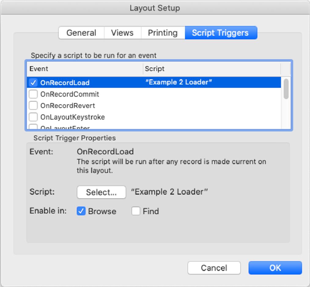 Layout setup for adding schema validation
