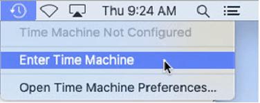 Time Machine UI with