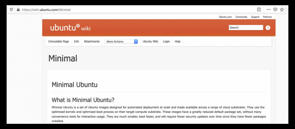 Photo of Ubunto Wiki for Minimal